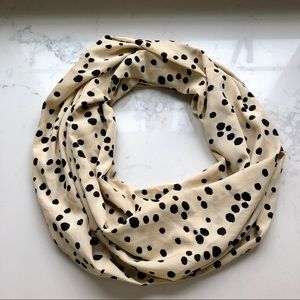 Anthropologie Spotted Infinity Scarf